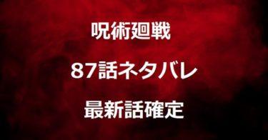 呪術廻戦87話ネタバレ最新確定!蝗害の呪いを撃破し帳を解除