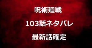 呪術廻戦103話ネタバレ最新確定!冥々と憂憂に死亡フラグ立つ